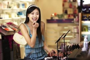 Sally Beauty Supply stores display lipstick products to encourage impulse purchase behavior.
