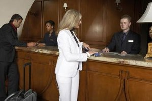 Hotel front desk clerks' salaries varied widely from state to state.