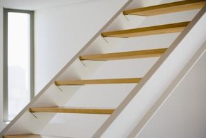 Visible stair treads are safer for climbing.