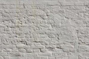 Color bricks white or rainbow hues with whitewash.