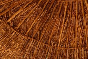 Thatching a hut is simple, and a variety of methods are available.