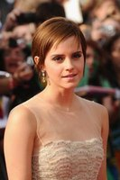 Actress Emma Watson has the pixie cut style.