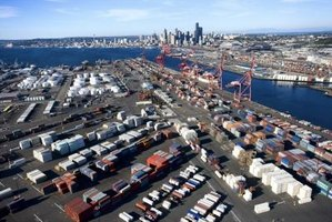 The activity of seaports is one indication of the size of the trade deficit.