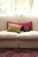 Reupholstered couch pillows can help give your couch a fresh look.