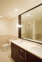 In a basic bathroom layout, the toliet and vanity are usually on the same wall.