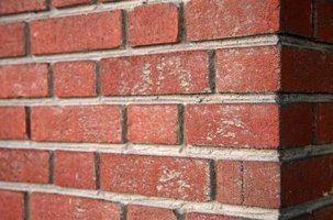 The corner of a brick wall is easy to construct with proper preparation and measuring.
