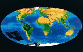 The Robinson Projection depicts earth as an ellipse.