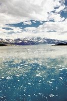 Clouds, ocean and ice in Alaska reflect the phases of the water cycle.