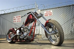 Choppers are usually built on rigid frames that do not use rear suspension.