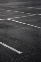 Asphalt is used in parking lots, road construction and driveways.