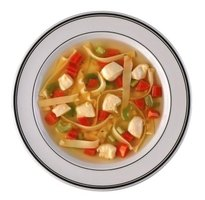 Soup bones act as the base for a rich soup.