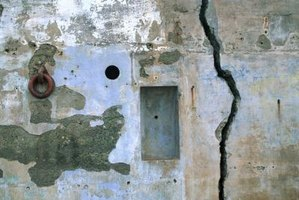 Vertical cracks in the wall may indicate several possible problems.
