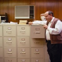 File cabinets help an office stay organized.