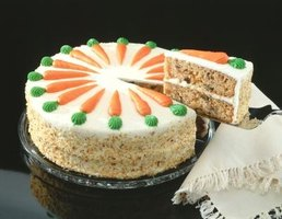 Enjoy homemade carrot cake for dessert.