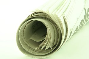 Have plenty of newspaper on hand when making paper mache items.