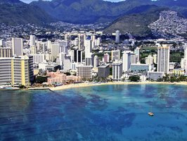 Waikiki Beach is one of many vacation spots in Hawaii.