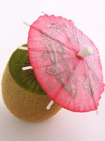 Paper cocktail umbrellas make colorful and fun additions to any drink