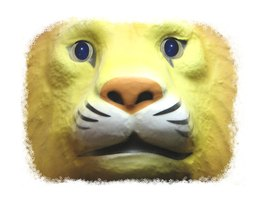 Make 3-D animal masks by modifying a basic mask base or making a plaster cast mask.