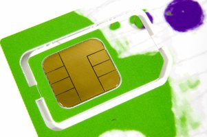 SIM card for mobile phones.