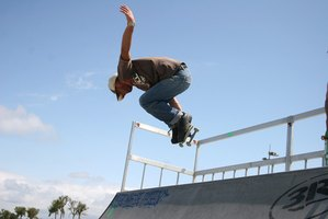 Skateboarders earn their sponsorships with dedication and skill.