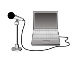 Skype operates with a computer microphone