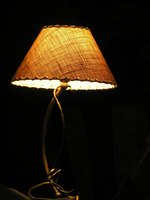 Lamp shades come in different sizes.