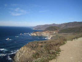 The California coast stretches nearly 800 miles.