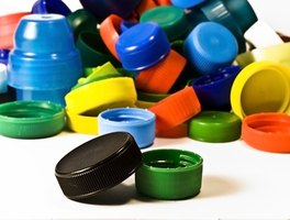 Plastic lids and caps can be used for a variety of crafts.
