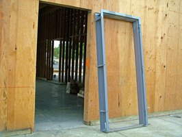 metal door frames are typically installed in commercial buildings