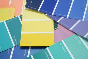 Paint color samples allow you to more precisely match colors.