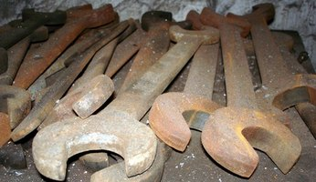 Rusty antique tools can be restored.