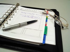A daily planner can help you stay organized.