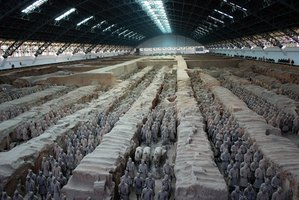 The Terra Cotta Warriors are a much-visited attraction in Xi'an, China.