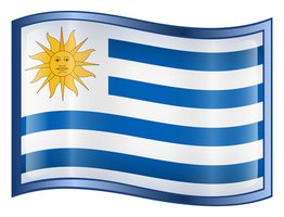 The Uruguayn Flag represents the Inca sun god, Inti and the nine stripes reflect the nine regional departments of the country.