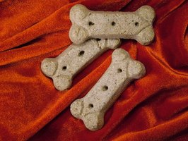 Dog bone cookies can be used at a dog-themed party.