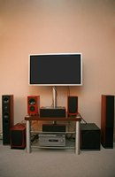 A home-theater system usually comes with multiple speakers.