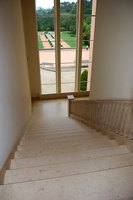 Add beadboard along stairs.