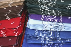 A bandana's color can represent group affiliation