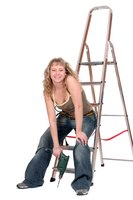 Work safely on A-frame ladders by taking appropriate precautions.