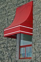 Metal awnings are a durable alternative to canvas.
