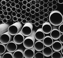 PVC plastic is generally used for pipes, but it can be molded into other shapes.