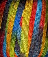 Ribbon yarn often contains acrylic fiber.
