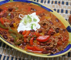 Homemade chili is a cheap meal that can be frozen and reused.
