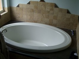 The soaker tub is deeper that the traditional tub.