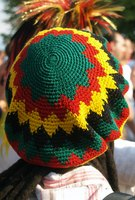 The rasta or dreadlock hat