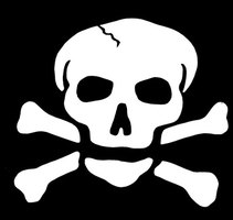 A skull and crossbones can indicate a poison that may contain arsenic.
