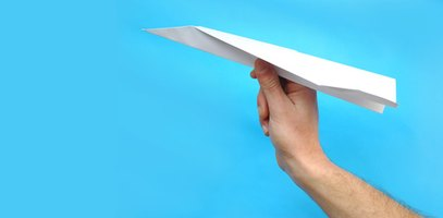 Make a boomerang paper airplane.