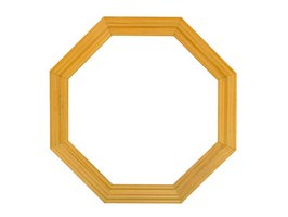Make an octagon picture frame from pine wood.