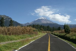 Popocatepetl is the second highest volcano in North America.