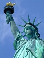 The Statue of Liberty offers a 360 degree view of New York harbor, Manhattan, Brooklyn and New Jersey.